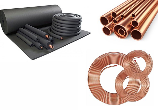Copper pipes and copper fitting